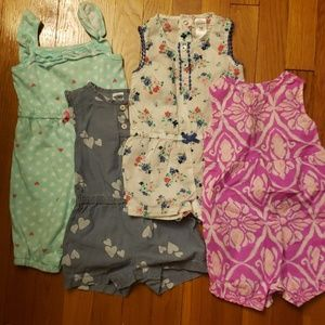 Bundle of 4 toddler rompers